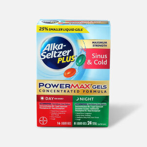 Alka-Seltzer Plus PowerMax Gels, Severe Cough, Mucus & Congestion, 24ct