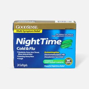 GoodSense® NightTime Cold & Flu Multi Symptom Softgels, 24 ct