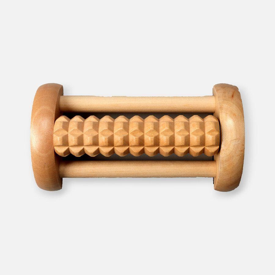 Kanjo Acupressure Foot Pain Relief Single Roller, Wood, Relieves Plantar Fasciitis, Heel & Arch Pain, , large image number 0