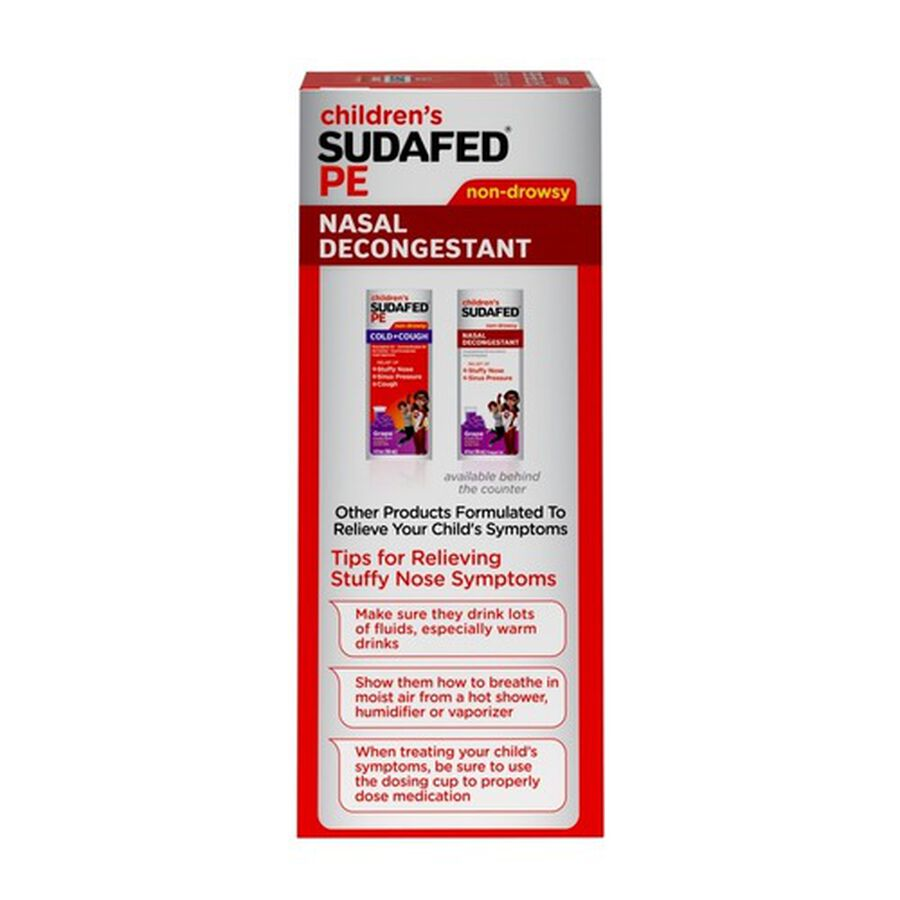 Children's Sudafed PE Oral Solution, Non-Drowsy, Berry Flavor, 4 fl oz, , large image number 2