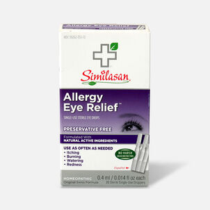 Similasan Allergy Eye Relief, 20 Single Use Droppers, 0.015 fl. oz.