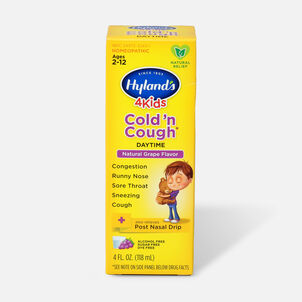 Hyland's 4 Kids Cold and Cough, Grape, 4 oz