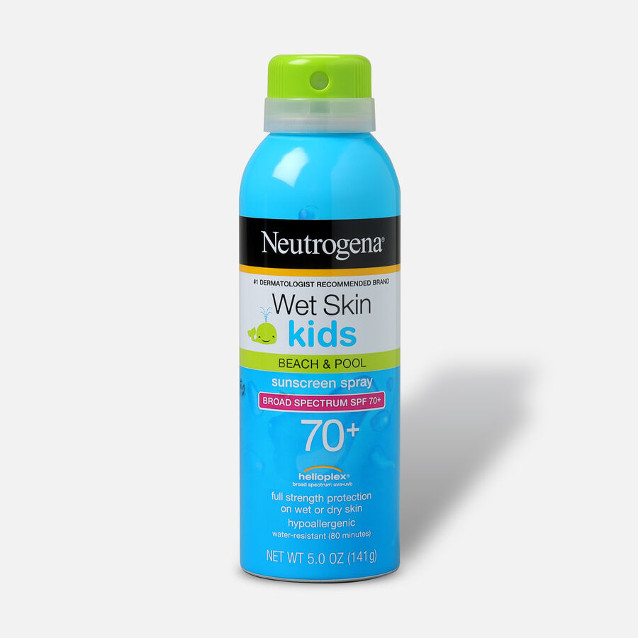 Neutrogena Wet Skin Kids Sunscreen Spray, SPF 70, 5 oz, , large image number 0