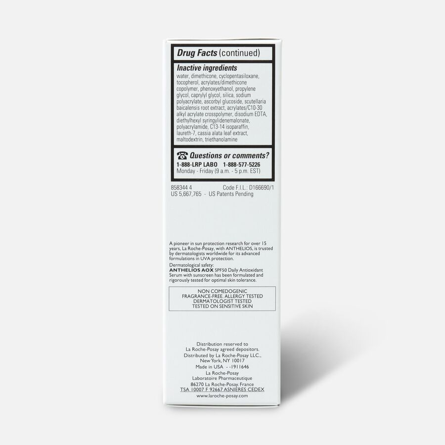 La Roche-Posay Anthelios AOX Daily Antioxidant Serum SPF 50, , large image number 2