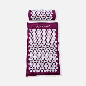 Kanjo Memory Acupressure Mat Set with Pillow, Amethyst