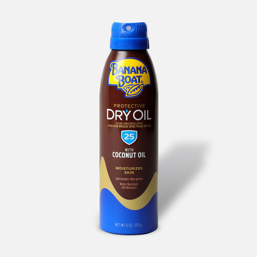 Banana Boat Dry Oil Clear Sunscreen Spray SPF 25, 6oz., , large image number 0