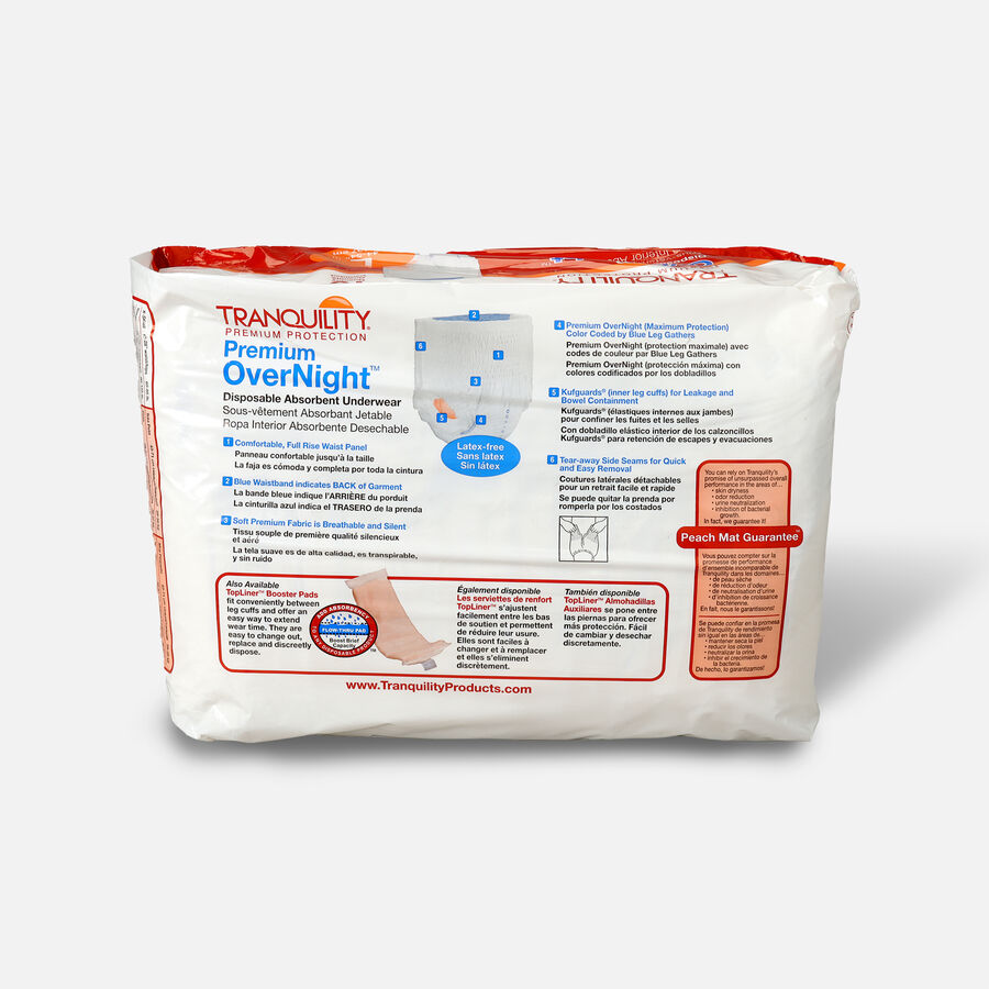 Tranquility Premium OverNight Disposable Underwear, , large image number 1