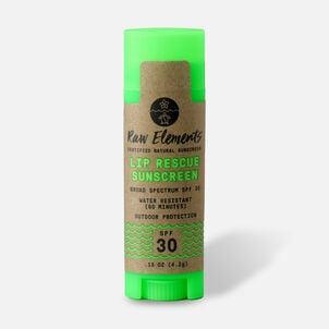Raw Elements Lip Rescue Lip Balm, SPF 30, .15 oz