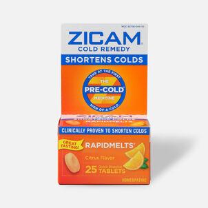 Zicam Cold Remedy RapidMelts with Vitamin C, Citrus, 25 ea