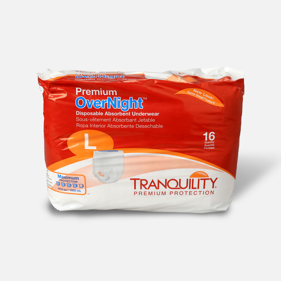 Tranquility Premium OverNight Disposable Underwear, , large image number 0