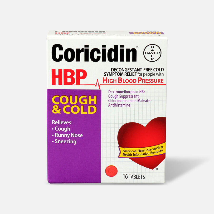 Coricidin HPB Cold & Cough Tablets, 16 Count, , large image number 0