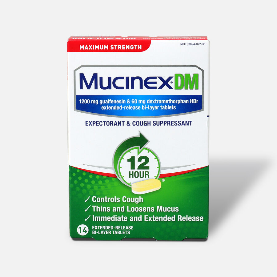 Mucinex Max Strength Extended Release Bi-Layer Tablets, 14 ct, , large image number 0