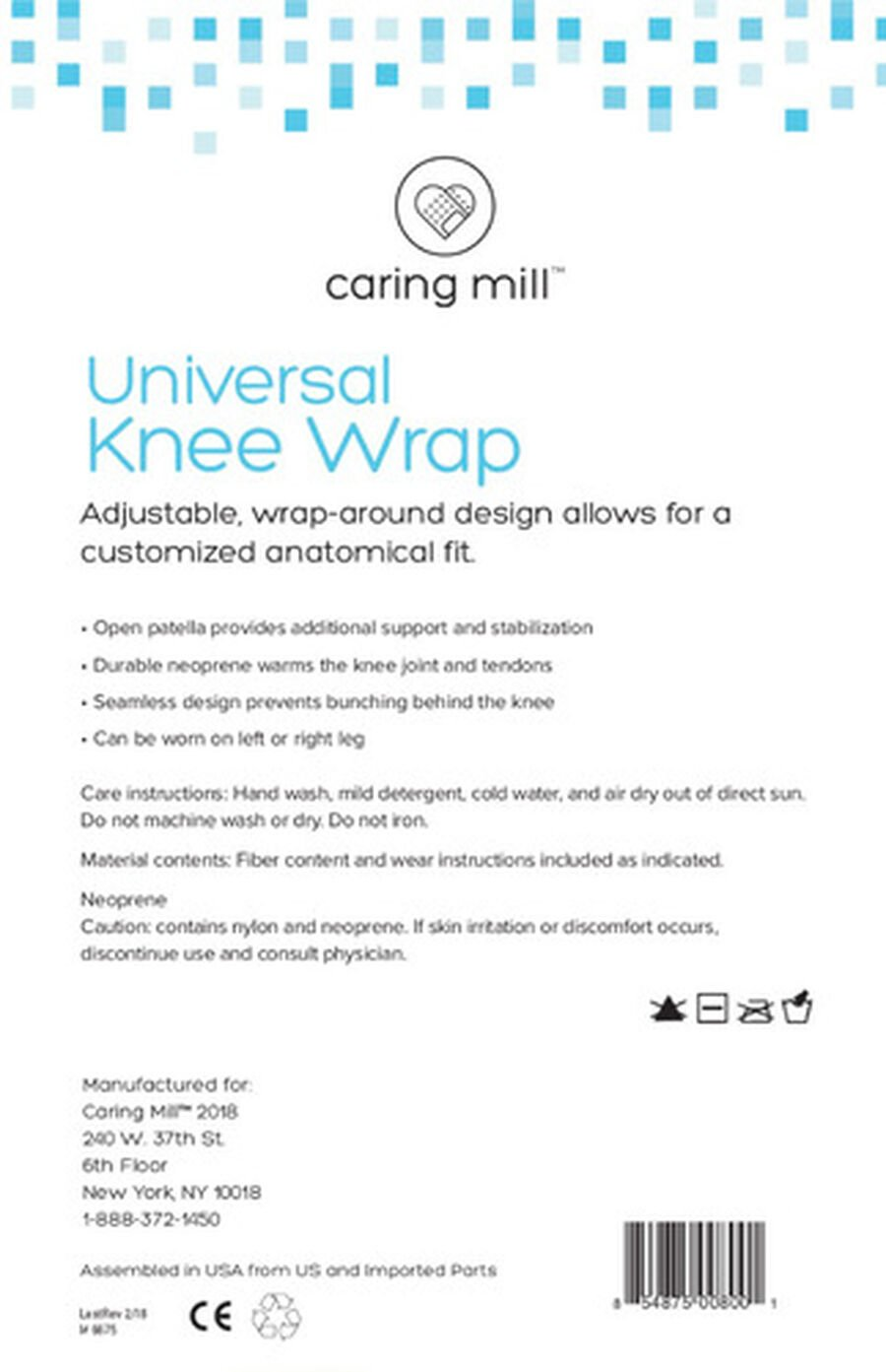 Caring Mill® Universal Knee Wrap, , large image number 1