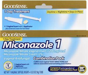 GoodSense® Miconazole 1 combo pack 1 Soft Gel Insert + 0.32 oz Tube