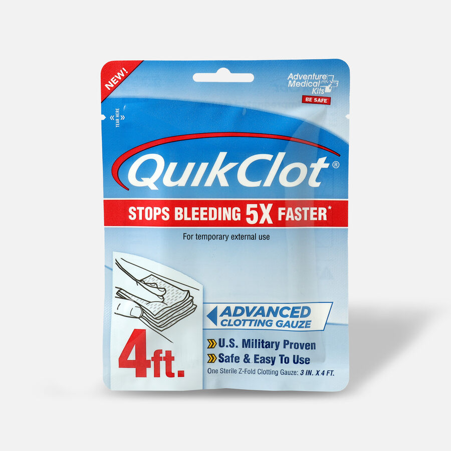 """QuikClot Gauze 3"""" x 4', , large image number 0"""