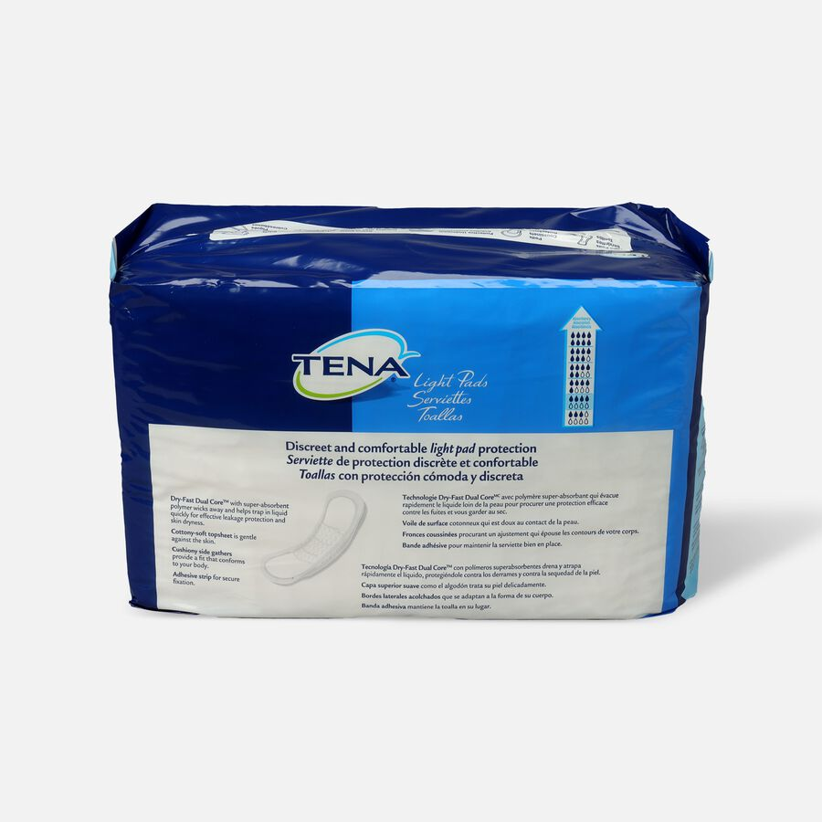 Tena Light Pads, Moderate Absorbency, 60 ea, , large image number 1