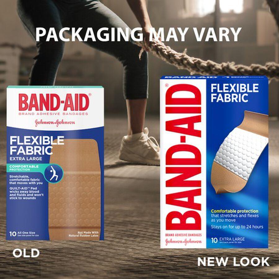 Band-Aid Flexible Fabric Adhesive Bandages, Extra Large - 10ct, , large image number 2