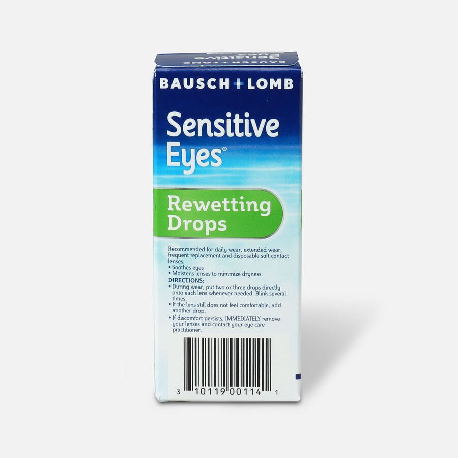 Sensitive Eyes Drops for Rewetting Soft Lenses to Minimize Dryness, 1 fl oz, , large image number 1