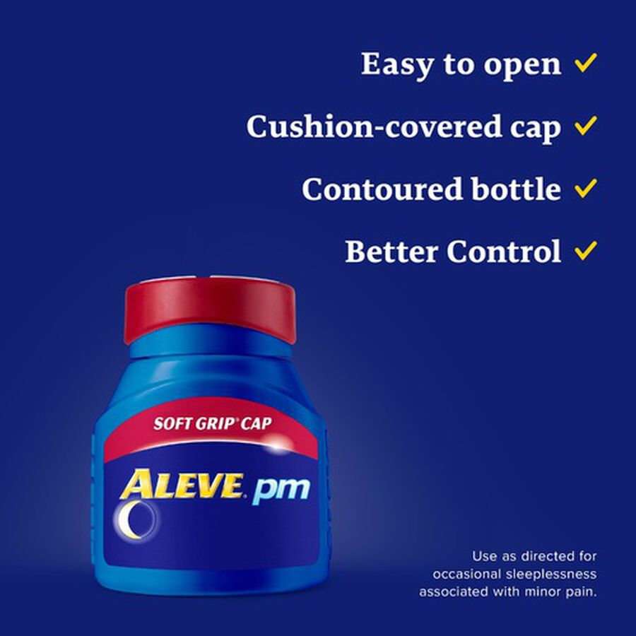 Aleve PM Caplets, Soft Grip Cap, 80ct, , large image number 6
