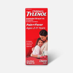 Children's Tylenol Fever Reducer & Pain Reliever, Ages 2-11, Cherry Blast, 4 fl oz
