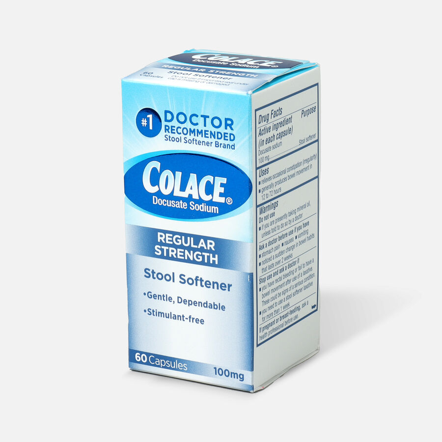 Colace Stool Softener Laxative 100 mg, Capsules, 60 ea, , large image number 2