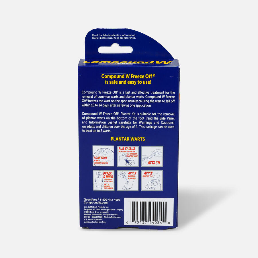 Compound W Freeze Off Plantar Wart Removal System, 8 ea, , large image number 1