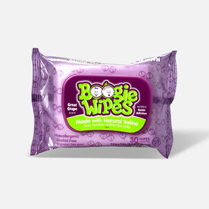Boogie Wipes Saline Nose Wipes, Grape Scent, 30 ea