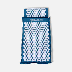 Kanjō Memory acuPressure Mat Set with Pillow, Sapphire