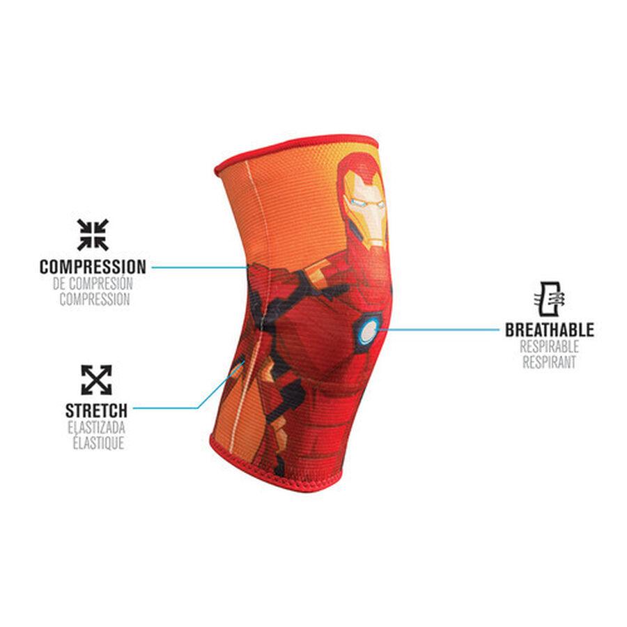 DonJoy Advantage Marvel Elastic Knee Support, Pediatric, Iron Man, , large image number 0