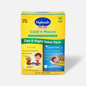 Hyland's 4 Kids Cold and Mucus, Day and Night Value Pack