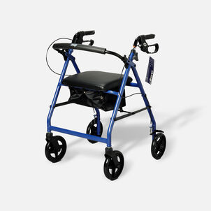 """Drive Aluminum Rollator with Fold Up and Removable Back Support, 8"""" Casters, Blue"""
