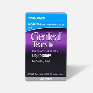 GenTeal Tears Moderate Relief Lubricant Eye Drops, Twin Pack