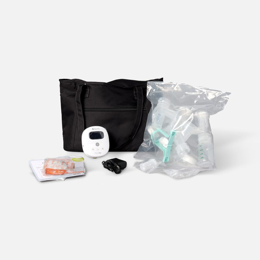 Ameda Mya Joy Double Electric Breast Pump with Large Tote and Accessories, , large image number 0