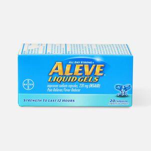 Aleve Liquid Gels Pain Reliever/Fever Reducer, 20 ea