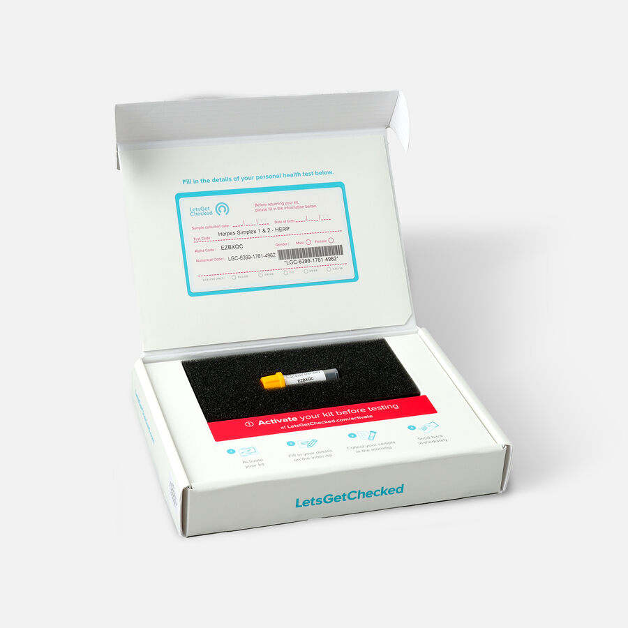 LetsGetChecked At Home Herpes Test, , large image number 1