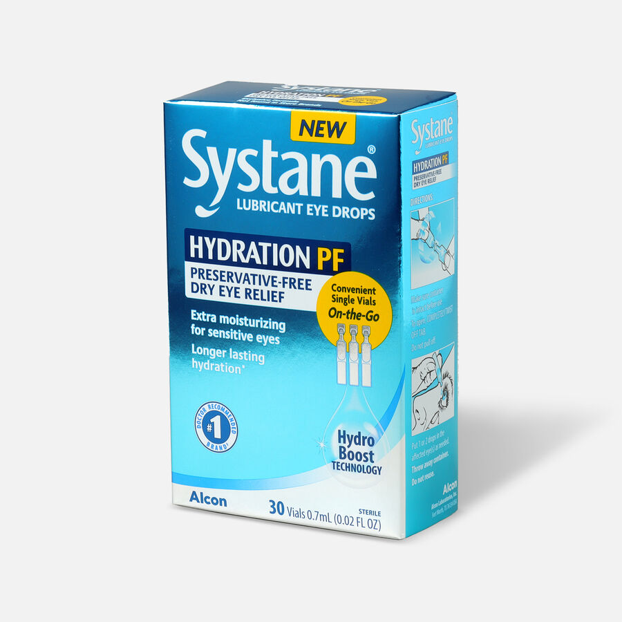 Systane Hydration Preservative Free Eye Drops, 30ct, , large image number 2