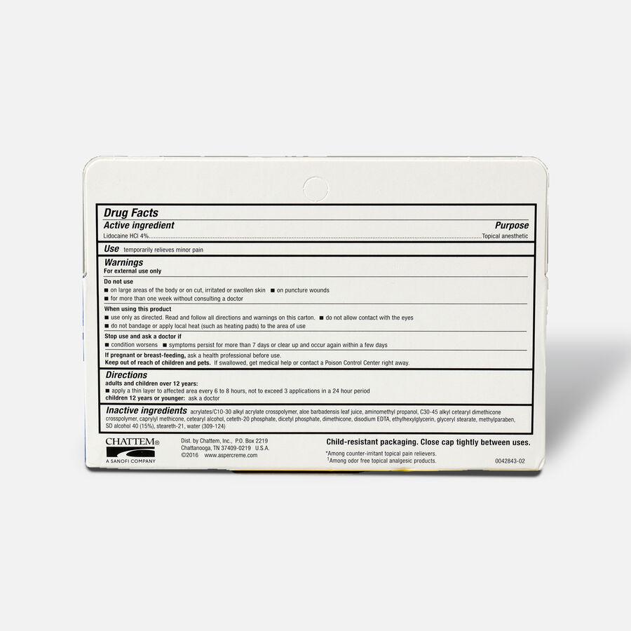 Aspercreme Creme with Lidocaine, 4.7 oz., , large image number 1