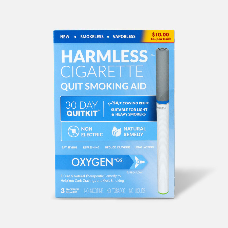 Harmless Cigarette Quit Smoking Aid, 30 Day Quit Kit, Oxygen, , large image number 0
