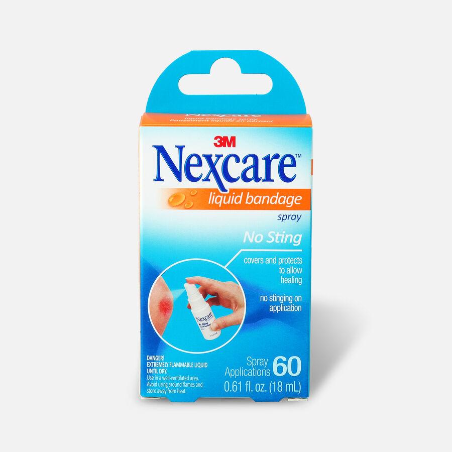 Nexcare No Sting Liquid Bandage Spray, .61 fl oz, , large image number 0