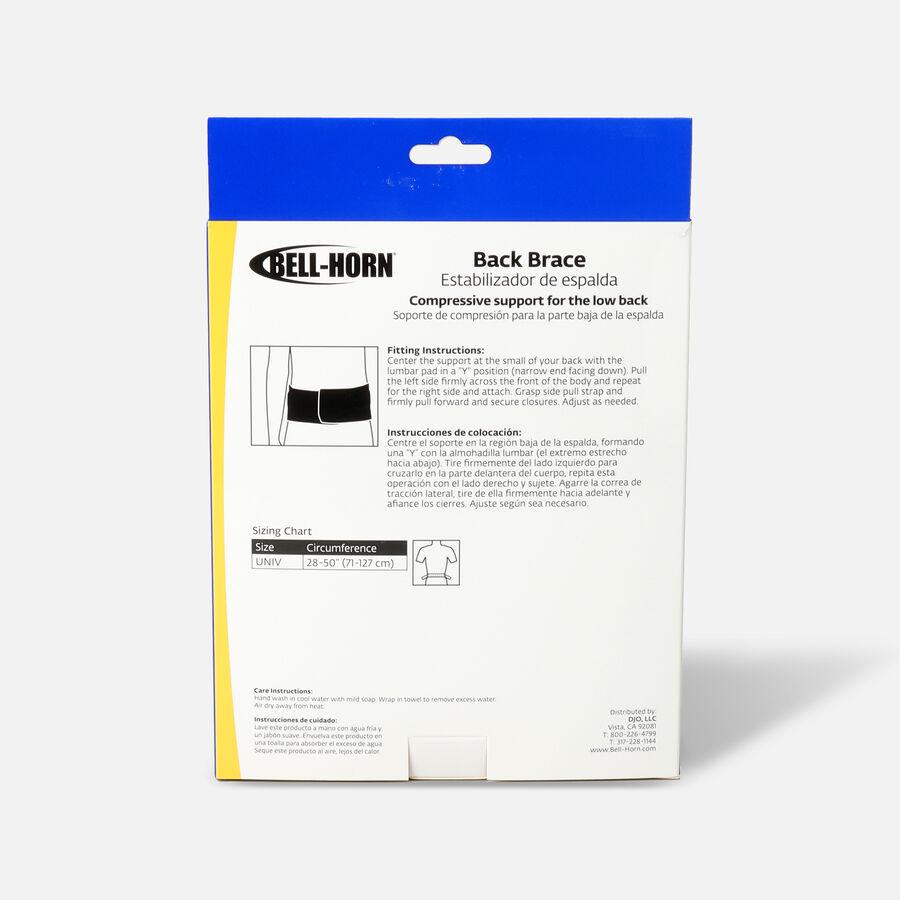 Bell-Horn Brace Yourself Adjustable Yourself Back Black Brace, , large image number 1
