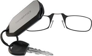 ThinOPTICS Keychain Reading Glasses, Black Frame, 2.50 Strength
