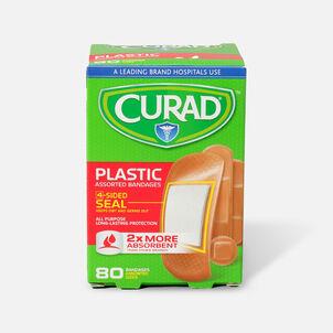 Curad Assorted Plastic Bandages, 80 ea