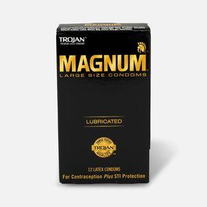 Trojan Magnum Lubricated Latex Condoms, Large