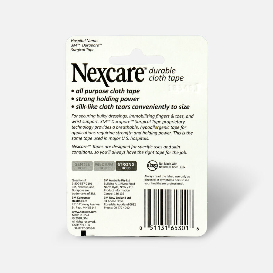 """Nexcare Durable Cloth Tape, 1"""" x 10 yds - 1ct, , large image number 1"""