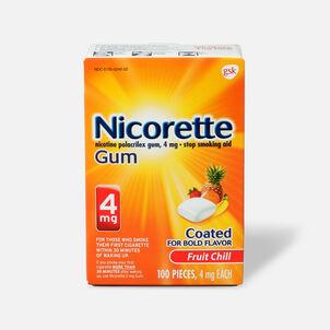 Nicorette Gum Fruit Chill, 4mg, 100 ct