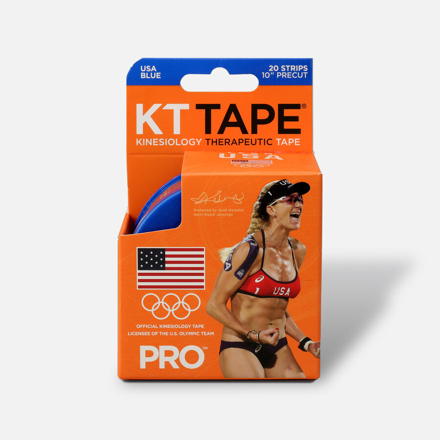 "KT Tape Pro Team USA, Blue, 20 2""x10"" strips, Blue Team USA, large image number 0"