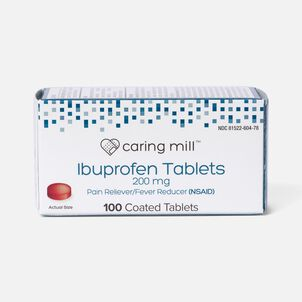 Caring Mill™ Ibuprofen Pain Reliever/ Fever Reducer (NSAID) Brown Coated Tablets