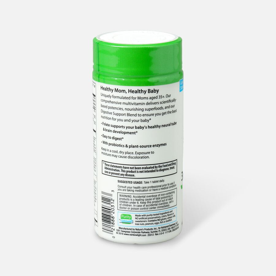 Rainbow Light 35+ Mom And Baby Pre&Postnatal Vitamins 60 ct, , large image number 2
