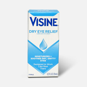 Visine Dry Eye Relief Lubricating Eye Drops for Dry Eyes, 0.5 fl. oz