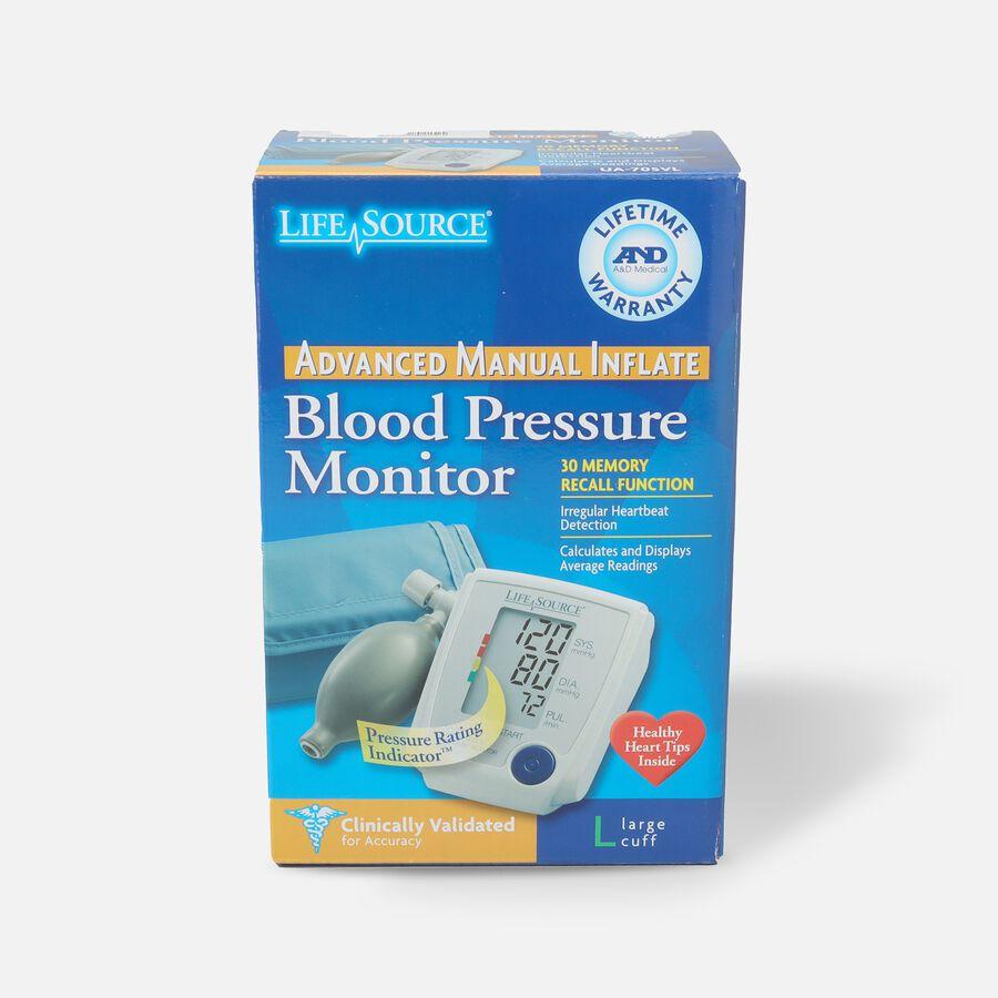 Life Source Advanced Blood Pressure Monitor Manual Inflate UA-705VL, , large image number 0